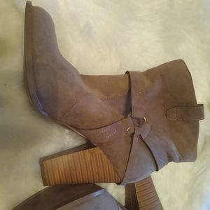 JustFab Brown Suede Boots